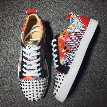 DCCKU62 Cl Christian Louboutin Low Style #2001 Sneakers Fashion Shoes