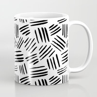 black mudcloth Coffee Mug by Sylvia Cook Photography