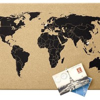World Map Corkboard - Contemporary - Bulletin Boards And Chalkboards - by The Land of Nod