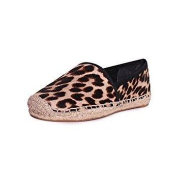 Tory Burch Elisa Flat Espadrilles Flats In Natural Leopard Black