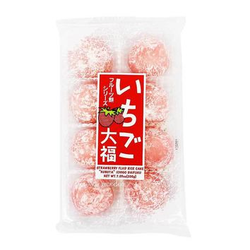 Strawberry Daifuku Mochi Rice Cake by Kubota, 7 oz (200 g)