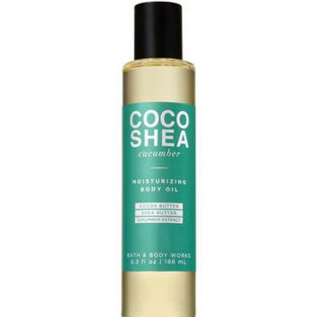 Bath & Body Works COCO SHEA CUCUMBER Moisturizing Body Oil 6.3 oz