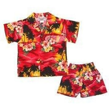 sunburst hawaiian boy cabana set