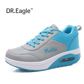 Women's sports Toning shoes Wedge Fitness Shoes Losing Weight Height sneaker Health ladies shoes womens trainers Free shipping