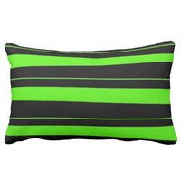 Cool Neon Lime Green and Black Striped Pattern