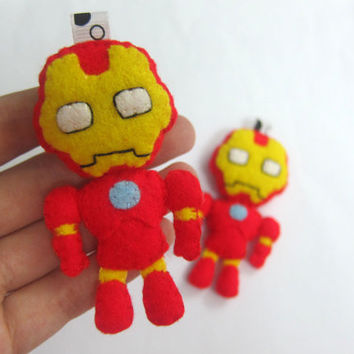 Chibi Iron Man look-alike Ornament/Keychain/Plush