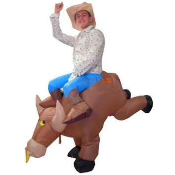 Halloween Star Wars Bull Inflatable Fancy Dress Carnival Cosplay Inflatable Cow Animal Costumes For Adults