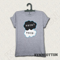 5sos shirt 5 seconds of summer t-shirt okay? okay. shirt funny grey gray 25