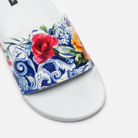 Rubber Slippers With Print - Women | Dolce&Gabbana