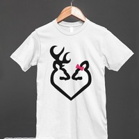 Deer Love-Unisex White T-Shirt