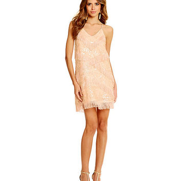 Gianni Bini Maritza Sequin and Fringe Dress | Dillards