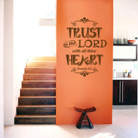 Scripture Wall Decal. Trust In The Lord v2 - CODE 142