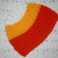Candy Corn Halloween Beanie Hat NB, 0-6, 6-12 Months 1-3, 3-8, 8-15 years  Baby Shower Gift, Infant, Perfect Photo Prop