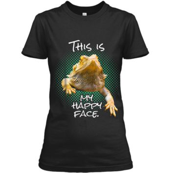 This Is My Happy Face Bearded Dragon Funny Reptile  Ladies Custom