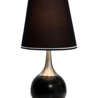 Ore International Large Modern Touch Table Lamp - Black
