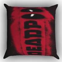 DEADPOOL LOGO BRUSH Z1241 Zippered Pillows  Covers 16x16, 18x18, 20x20 Inches