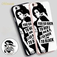 Minason amy winehouse Mobile Phone Shell Soft TPU Silicone Case Cover for iPhone X 8 5 SE 5S 6 6S 7 Plus