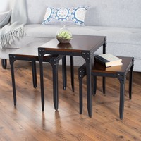 Belham Living Trenton Industrial Nesting Table Set | www.hayneedle.com