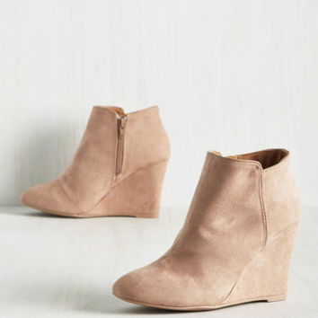 No Sleek 'Til Brooklyn Wedge in Rosewater | Mod Retro Vintage Boots | ModCloth.com