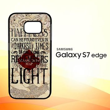 Harry Potter Marauders Map Happines L1431 Samsung Galaxy S7 Edge Custom Case