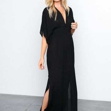 The Virginia Kimono Caftan Maxi Dress