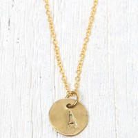 Me To We 'A' Stamped Necklace - Womens Jewelry - Gold - One
