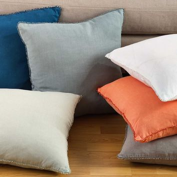 "Pomponin Pompom Trim 20"" Pillow"