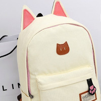 Cat Ear Canvas Backpack