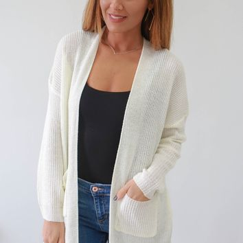 Easy Does It Cardigan - Ivory