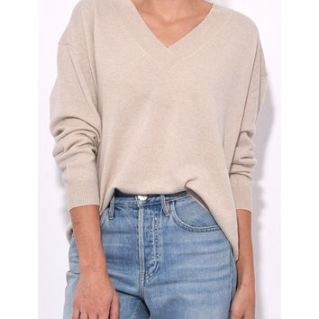Nili Lotan Merle Sweater - Light Taupe Cashmere Sweater