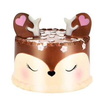 18 Newest Slow Rising Squishies Jumbo 11cm Kawaii Dream Elk Deer Cake Scented Squishy Charm Slow Rising Kid Toy Gift Home Decor