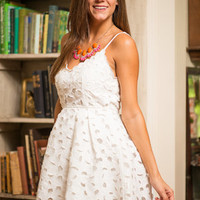 Chance To Charm Dress, White
