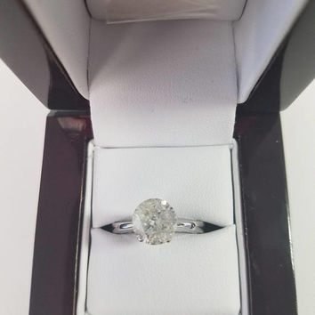 2.17 Carat H I1 Diamond Engagement Ring 14K Solitaire Anniversary Bridal Appraisal Jewelry Looks Great!! Huge Size Low Price!  Hurry!