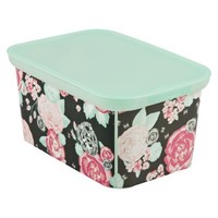 Xhilaration Amsterdam Small Storage Totes - Set of 3 - Floral Stud Pink