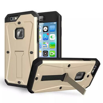 Heavy Duty Case for iPhone 6 Plus 5.5 6S Plus Water Resist  Hard Cover with Kickstand & Built-in Screen Protector