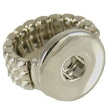 "Snap Charm Stretch Ring for 20mm snaps, 3/4"" Diameter"