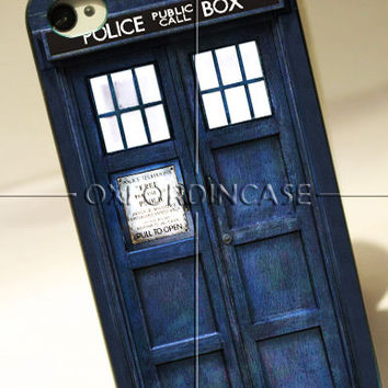 Tardis Doctor Who Police Box, Doctor Smith - for iPhone 4/4S case iPhone 5 case Samsung Galaxy S2/S3/S4 case hard case