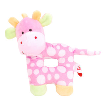 Linzy Toys Pink Baby Giraffe Rattle | zulily