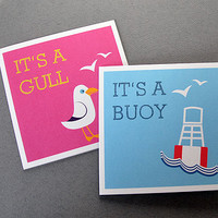 'It's A Buoy' Greeting Card