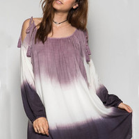 Ombre Oasis Dress - Purple/Cream