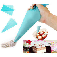 Silicone Cake Piping Bag Icing Cream Pastry Decorating Kitchen Tool Reusable DIY