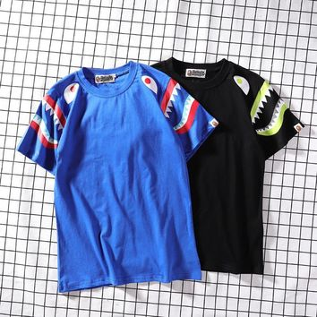 Couple Summer Hip-hop Camouflage Strong Character Short Sleeve T-shirts Fashion Bottoming Shirt [1276624994340]