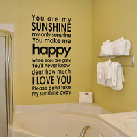 Supermarket: You are my sunshine - subway style vinyl wall decal from Old Barn Rescue Company Wall Decals