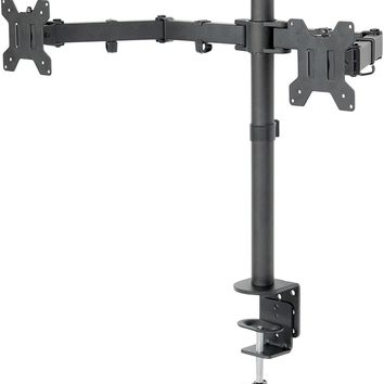 Dual LCD LED Monitor Desk Mount Stand Heavy Duty Fully Adjustable fits 2 Screens