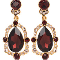 Oscar De La Renta Pear Cut Crystal Earrings - Drop Earrings - ShopBAZAAR