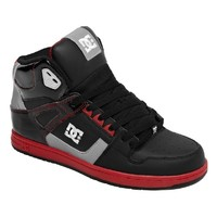 DC Shoes Mens Black Red Red Inbound Shoes Sneakers