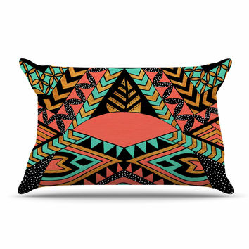"Pom Graphic Design ""PeruNative"" Gold Coral Pillow Sham"