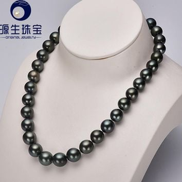 Women's Tahitian Black Large Cultured Pearl Necklace
