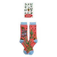 Lookin' Sharp Cactus Enamel Pin and Too Hard To Handle Cactus Socks Gift Set