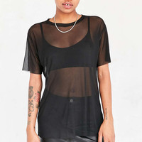 Silence + Noise Chrissy Mesh Tee - Urban Outfitters